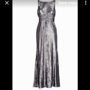 GORGEOUS Lauren Ralph Lauren Metallic Evening Gown